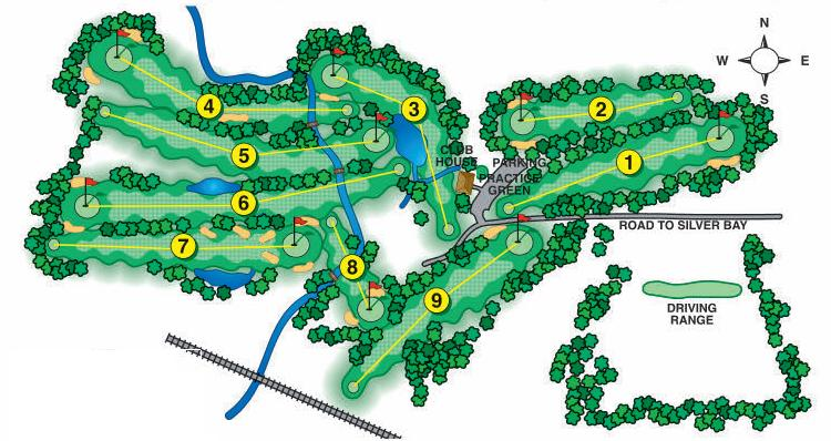 Golf Course Layout Silver Bay Golf Course